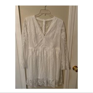 NEVER WORN White Lace CupShe Dress!
